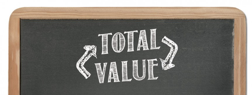 total value chalkboard
