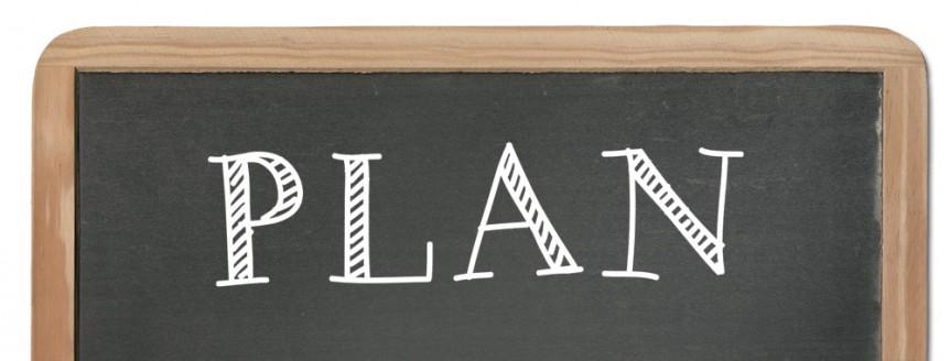 chalboard plan