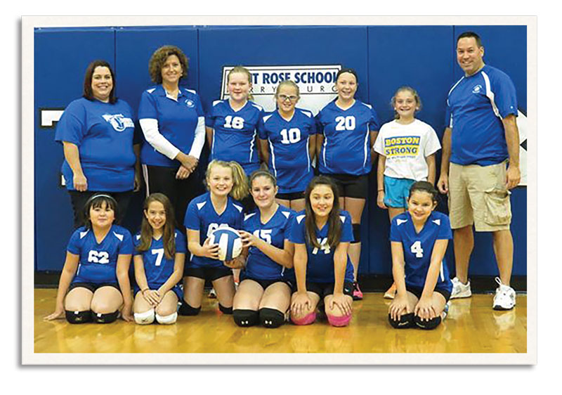 Phil coached the St Rose 5th grade girls volleyball team to a perfect 12-0 regular season record!